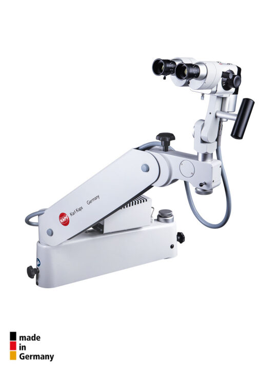 karl-kaps-germany-kp3000s-colposcope-mounted-to-examination-chair